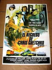 THE SQUEEZE Original CRIME Movie Poster LEE VAN CLEEF KAREN BLACK EDWARD ALBERT