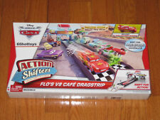 Disney Pixar Cars Action Shifters Flo's V8 Cafe Dragstrip playset NEW