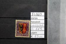 FRANCOBOLLI SVIZZERA USATI N°169 (F41669)