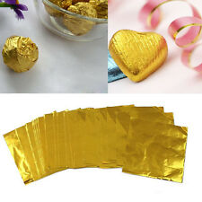 100Pc Gold Sweet Candy Package Foil Paper Chocolate Candy Lolly Foil Wrappers