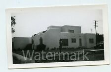 Vintage snapshot photo Triplex building Los Angeles County CA Atlantic Blvd