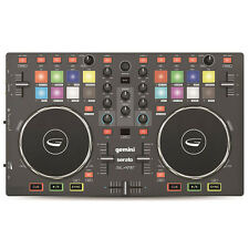 Gemini SLATE 2-Channel Slim 3-Band EQ Effects DJ Controller with Serato DJ Intro