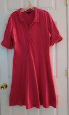 Lands End short sleeve knit dress pink large (14/16)