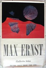 MAX ERNST AFFICHE LITHO signée GALERIE IOLAS LITHOGRAPHIE SERGIO TOSI MILANO