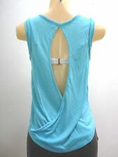 $40 RIP CURL GO WILD TANK TOP CAMI TEE SHIRT TURQUOISE open back SMALL XX158a