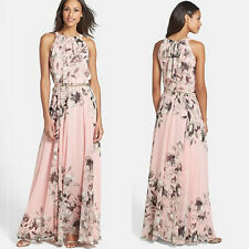 L-code Sexy Women Summer Boho Floral Long Maxi Evening Party Dress Beach Dress