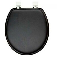 SOFT PADDED TOILET SEAT STANDARD ROUND BLACK