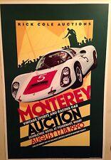 Porsche Monterey Vintage Sports & Racing Car Auction 1990 MINT ONE! Car Poster