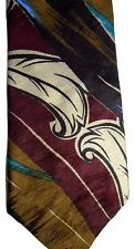 "Bugati Men's Silk Tie 58"" X 4"" Multi-Color Abstract"