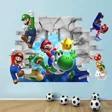 3D Cartoons Super Mario Bros Vinyl Art Wall Stickers Decals Kids Room Home Decor