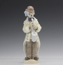 Signed LLADRO Spain Sad Sax 5471 Circus Clown Saxophone Porcelain Figurine SMS