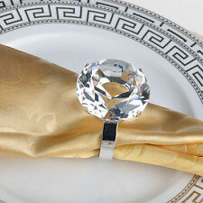 Wholesales 4pcs 40mm Crystal Diamond Napkin Ring Decoration Dinner Tableware New
