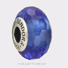 Authentic Pandora Sterling Silver Murano Fascinating Blue Bead 791067