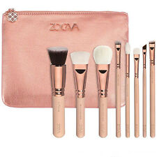 8PCS Pro ZOEVA Rose Golden Makeup Cosmetic Complete Eye Powder Brushes Set+ Case