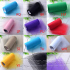 "6"" x 25 100 yards Tulle Roll Tutu Spool Gift Craft Bow Wedding Party Xmas Decor"