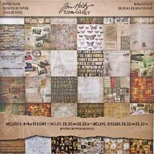 COLLAGE Idea-Ology Scrapbooking Stash Paper Pad 8x8 36pgs by Tim Holtz