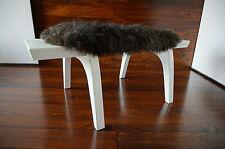 Minimaliste chêne blanc bois indoor bench-rembourré scandinav en peau de mouton - 5