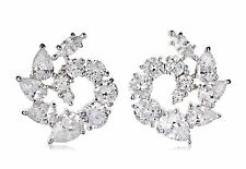 NWT CZ by Kenneth Jay Lane 10 Cttw Swirl Stud DAZZLING Red Carpet Earrings