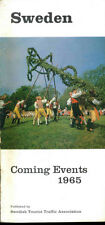 Vintage 1960s Sweden Travel Brochure - Sweden Coming Events 1965
