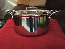 All Clad D5 8 Qt. Stock Pot with Lid  Stainless Steel Authentic (non Stick)