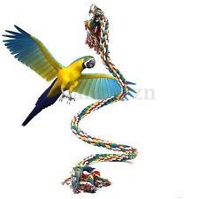 Jouet à Mâcher Pour Oiseau Perroquet Perruche Corde Echelle Grelot Cage Coloré