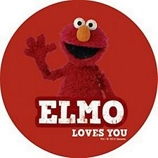 Elmo (Sesame Street) round single drinks mat / coaster   (hb)