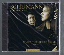 CLARA & ROBERT SCHUMANN CD NEW SONATES ET 3 ROMANCES JANE PETERS / JULIUS DRAKE