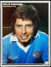 FOOTBALL PLAYER PICTURE WILLIE DONACHIE MANCHESTER CITY SHOOT