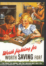 Advertising Postcard - Worth Saving For, WWII Poster, Home Front Series  BH6201