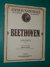 Partition piano et violon BEETHOVEN Concerto Op. 61 rév. A. PARENT