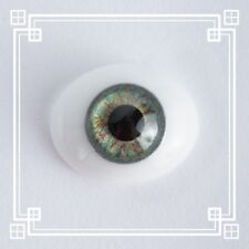 ~OvAL GLaSs IriS I EyEs 10MM GrEeN  ~ REBORN DOLL SUPPLIES