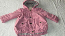 Next 4-5 years PINK COAT *BNWT* New Floral Lined Hooded Spring Autumn Girls