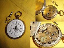 Ancienne montre à gousset,de poche,mi chronometre,22 rubis,boussole,kaiser,19ème