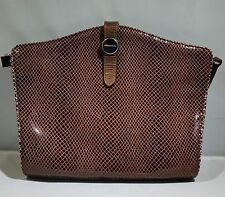 GENUINE LEATHER PURSE SNAKE SKIN PATTERNED BY AMANKAI FROM ARGENTINA GOOD COND