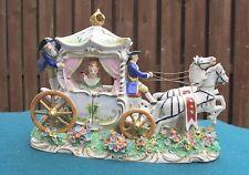 SITZENDORF (DRESDEN) PORCELAIN HORSE & CARRIAGE FIGURE - FABULOUS!