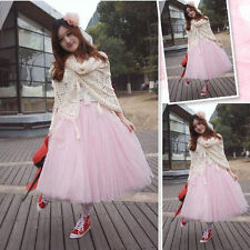 Women Layers Soft Tulle Skirt Long Dress Princess Ballet Tulle Tutu Dance Skirt