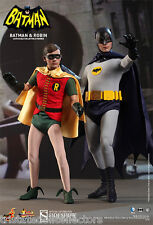 1966 TV CLASSIC Dynamic Duo BATMAN & ROBIN 1:6 Scale HOT TOYS SET_US Dealer_NRFB