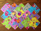 BRIGHT OWLS ~ FABRIC PATCHWORK SQUARES PIECES CHARM PACK 100% COTTON