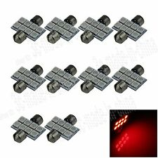 10X Red 31MM 8 5050 Festoon Dome Map Interior LED Light Lamp Bulb DE3425 I005