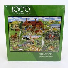 New Bits and Pieces 1000 Piece Jigsaw Puzzle Alphabet Farm 20x27 Gale Pitt