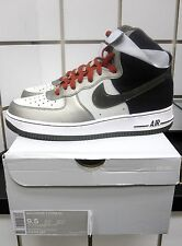 Nike Air Force 1 High '07 Mens' Shoes Grey/Newsprint-Metallic Pewter 315121-022