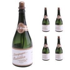 5 Pcs Champagne Bottles Bubble Empty Bubbles Wedding Supplies Party Favors Decor