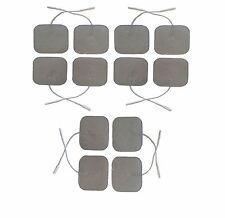 PREMIUM SILVER TENS ELECTRODES PADS 12 SQUARE HIGHLY ADHESIVE TENS PADS