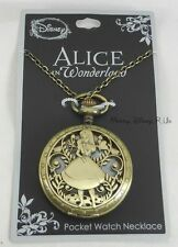 New Disney Alice in Wonderland In Garden Pocket Watch Necklace
