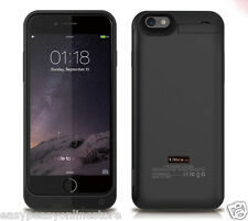 Custodia Cover Caricabatterie Powerbank Nero Premium Iphone 6 6s 4.7 5800mAh