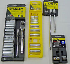 Set Stanley Tools Accessory Deep Socket Extension Bar Assorted Misc