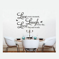 Cheap Sales Art Vinyl LAUGH Wall Sticker Decal Home Office Room Decor  LOVE LIFE