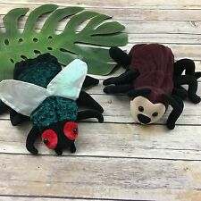 Insect Hand Puppets Set Ant Fly Caltoy Plush Bug Pair Teaching Education Toys