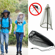 UK Midge Mosquito Insect Hat Bug Mesh Head Net Face Protector Cap For Camping xu