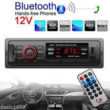 Bluetooth Car Stereo Audio 1 DIN In-Dash FM Aux Input Receiver SD USB MP3 Radio